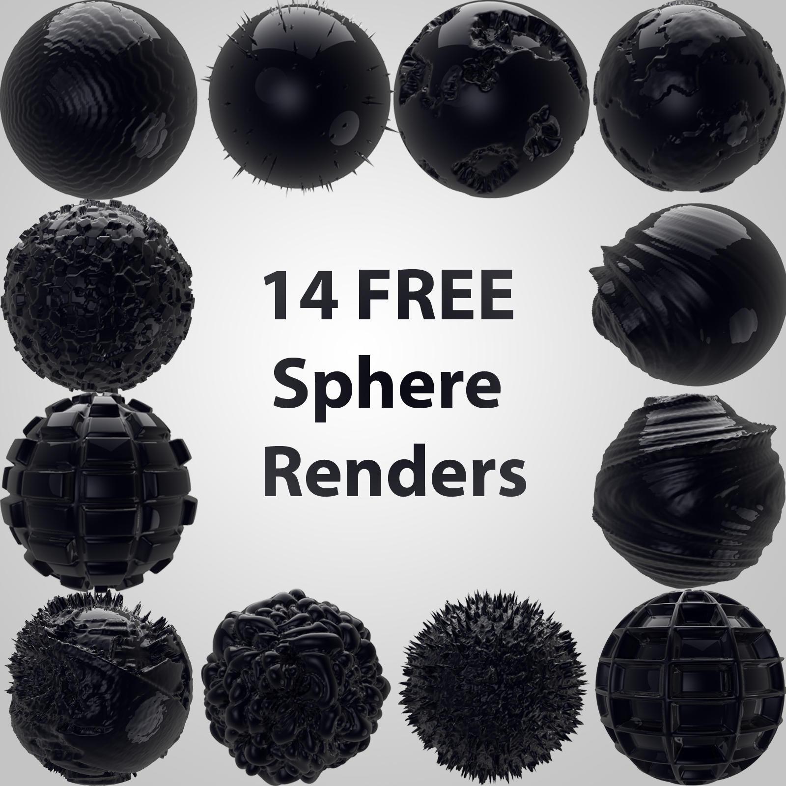 3D sphere renders by in-the-skies