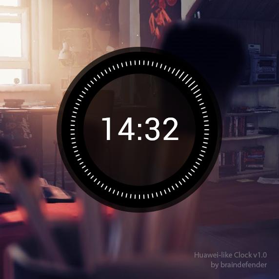 -011 Huawei-like Clock for Rainmeter by braindefender on
