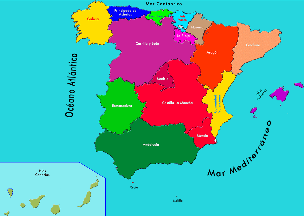 Similar gallery for simple spain map picture
