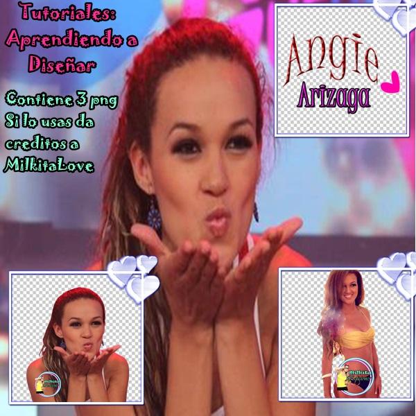Pack png de Angie Arizaga..MilkitaLove by MilkitaLove