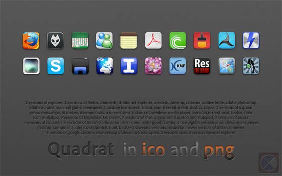 Quadrat icons