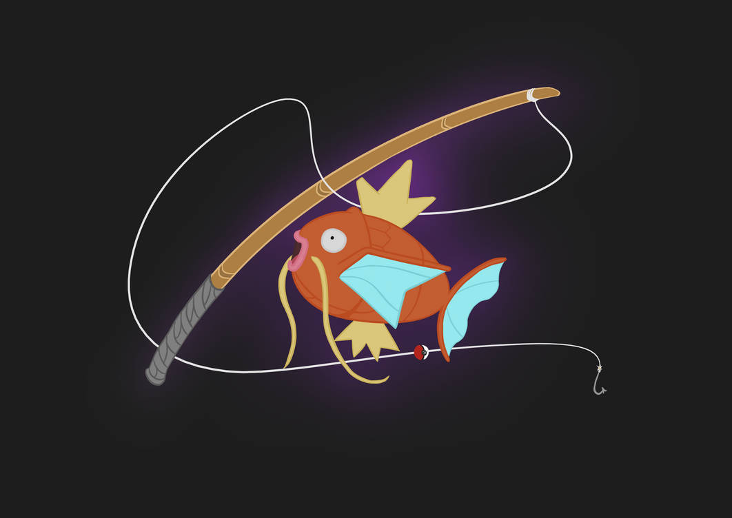 Magickarp fishing logo by AnthonyLiberty