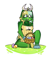 Hap Easter! (GIF) by G0DZILL4