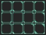 Brush frames for icons 100x100