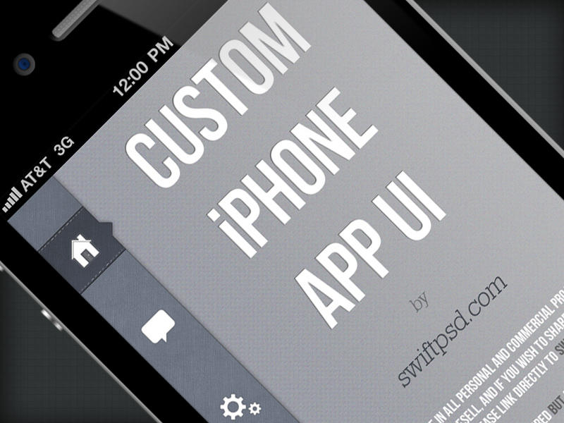 Custom iPhone App UI - PSD - by swiftpsd