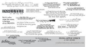Fiona Apple Lyrics Brushes
