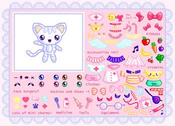 Nurse Kitty-chan Dress Up Game by Princess-Peachie