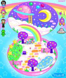 Rainbow Girl Playset by Princess-Peachie