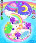 Rainbow Girl Playset