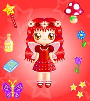 Ruby Fairy Doll by Princess-Peachie