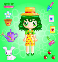 Spring Florist Doll by Princess-Peachie