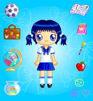 Sapphire Schoolgirl Doll by Princess-Peachie