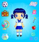 Sapphire Schoolgirl Doll