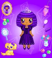 Plum Princess Doll by Princess-Peachie