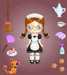 Coco Maid Doll by Princess-Peachie