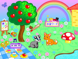 Cute Happy Interactive Playset by Princess-Peachie