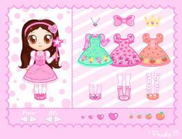 Peachie Mini Dress-Up by Princess-Peachie