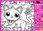 Girl's Colouring Book Game by Princess-Peachie