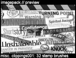 Misc. Clippings001: 32 brushes