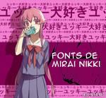 Fuentes (fonts) de mirai nikki