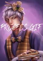 Blueberry Waffle Boy - Process GiF by VexingYA