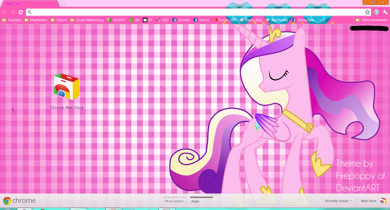 Princess Cadance Theme for Google Chrome by Firepoppy