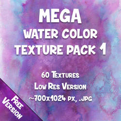 MEGA-PACK - Water Color Textures 1 - Free-Version
