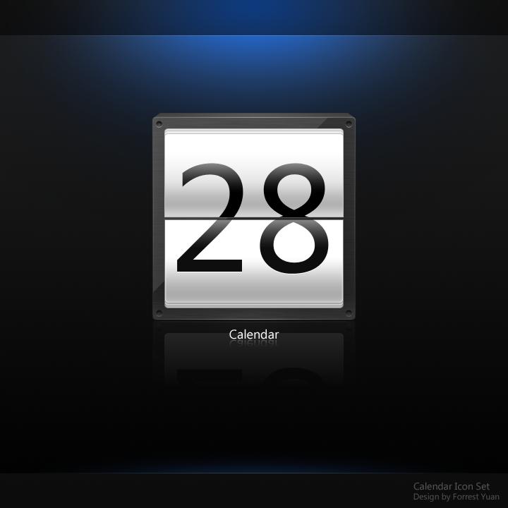 Calendar Icon Set by ypf