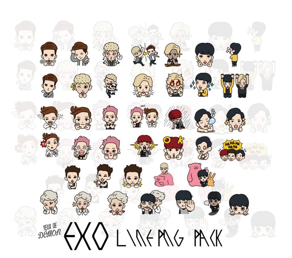 Download Sticker Line Exo ✓ Satu Sticker
