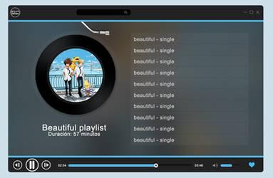 Music Player Playlist Template