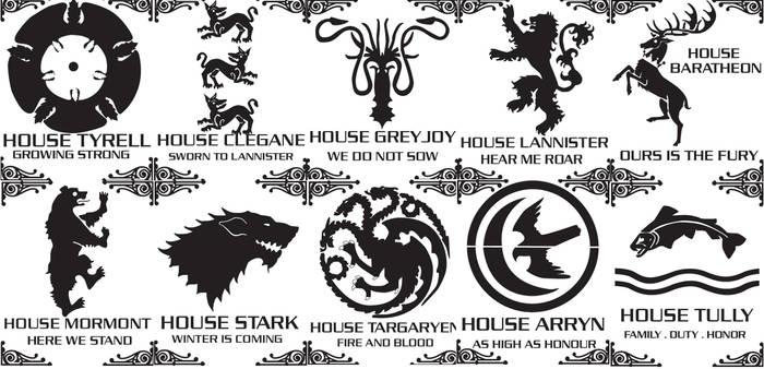 Game of thrones stencils