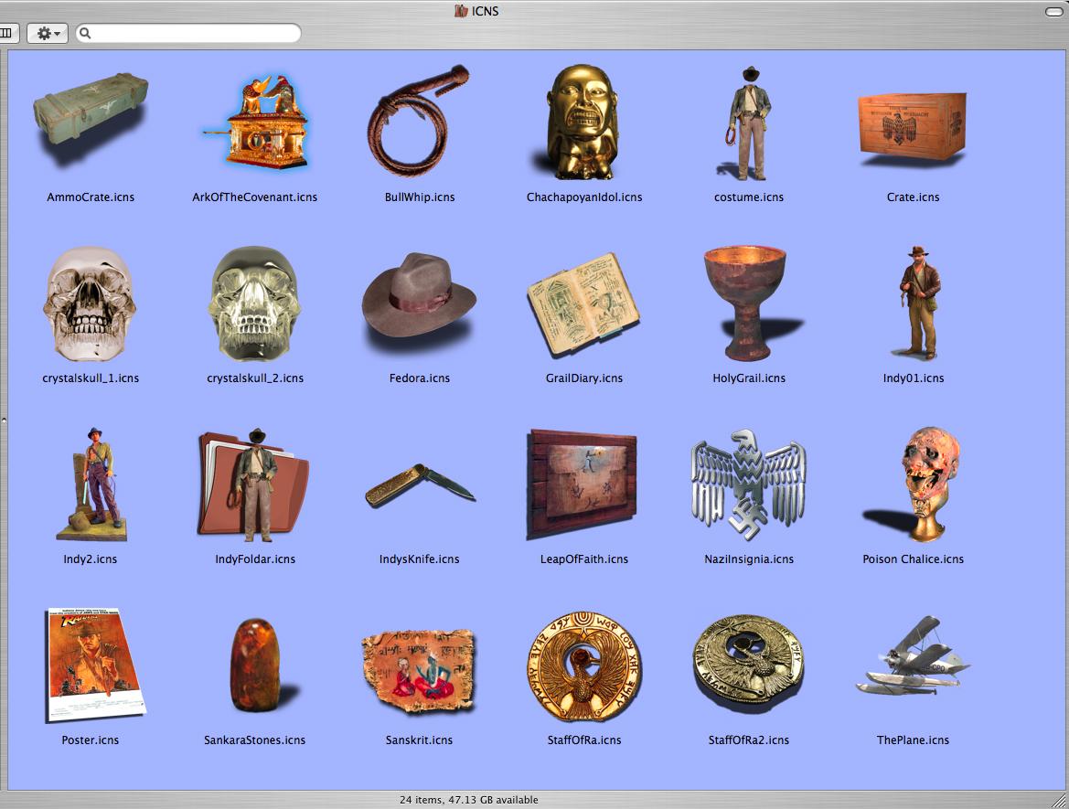 Indiana Jones Mac Icons