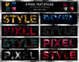 8 Pixel Text Styles By Cristian Cordova by C-Cris21