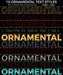 FREE 10 Ornamental Text Styles By Cristian Cordova by C-Cris21