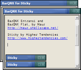 BarQNX set for Sticky by dekaritae