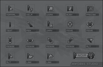 Noir cursors