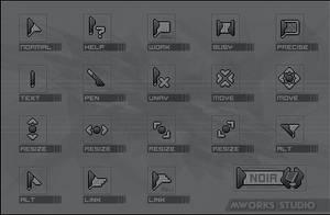 Noir cursors by dekaritae
