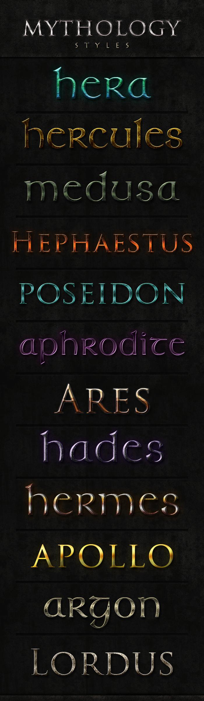 Mythology Styles by obsessiv3