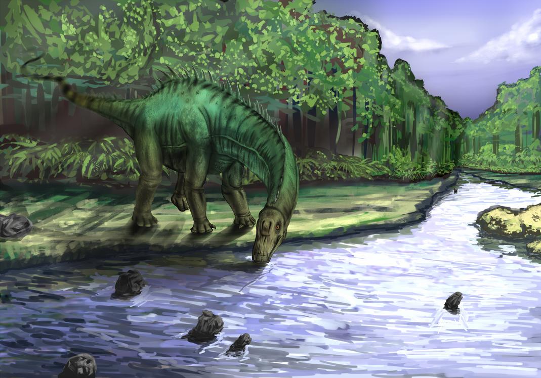 Dino diplodocus with tutorial by xenocracy on deviantart - Dinosaure diplodocus ...