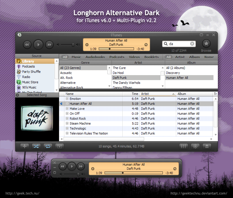 LhA Dark for iTunes 6 by geektechnu