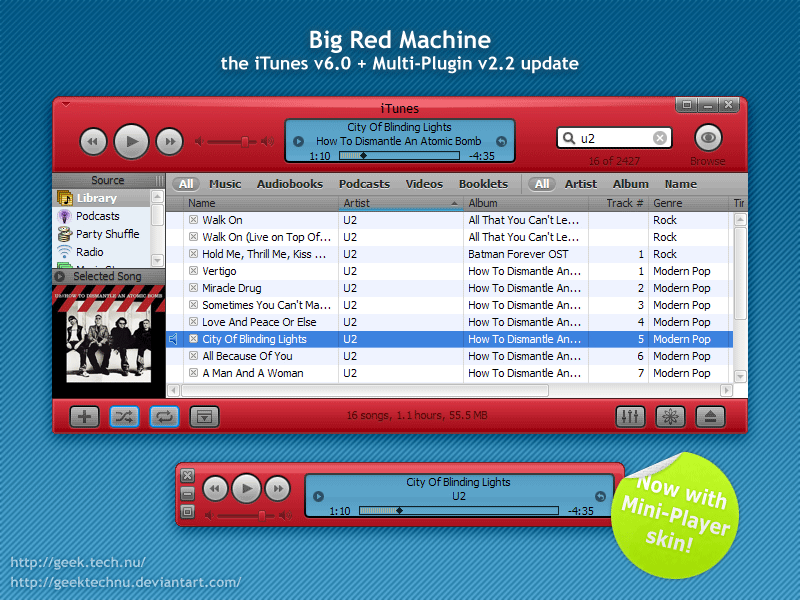 Big Red Machine for iTunes 6 by geektechnu
