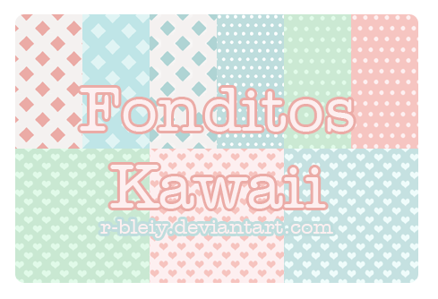 [Pack] Fonditos Kawaii 5 by R-bleiy