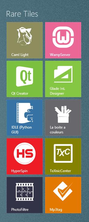 Rare Tiles for Windows 8 Metro UI by Mattakattak