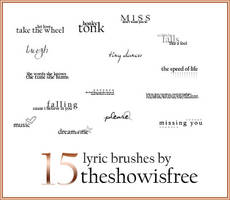 Lyric Brushes by thesif