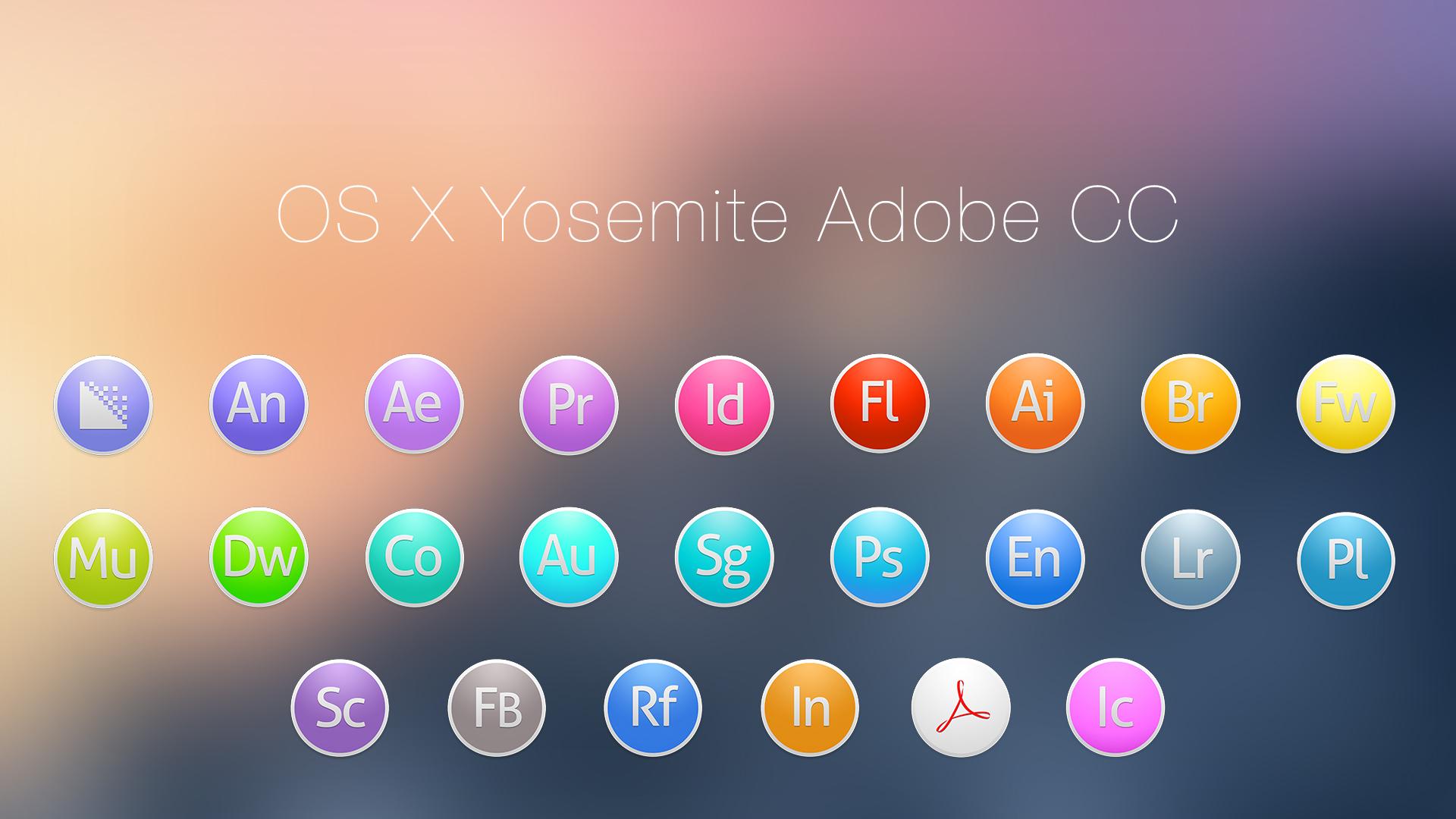 OS X Yosemite Adobe CC Light
