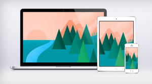 Google I/O Landscape Wallpaper Material Design