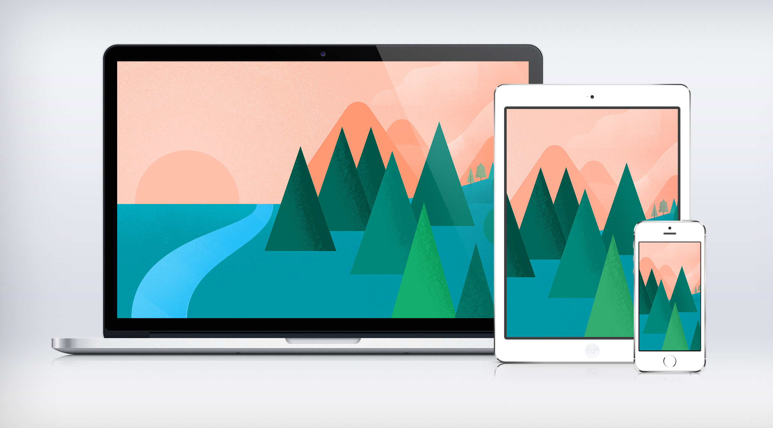 Google I/O Landscape Wallpaper Material Design by JasonZigrino