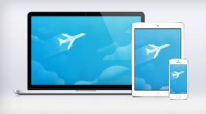 Google I/O Plane Wallpaper Material Design by JasonZigrino