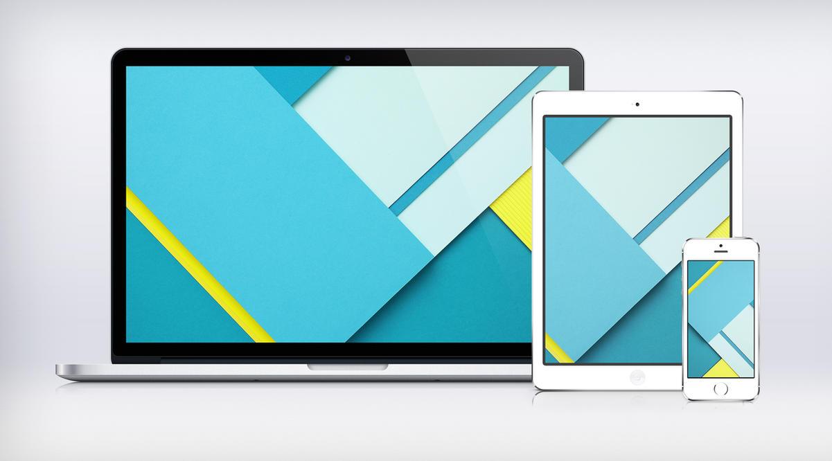 Google I/O Paper Wallpaper Material Design by JasonZigrino