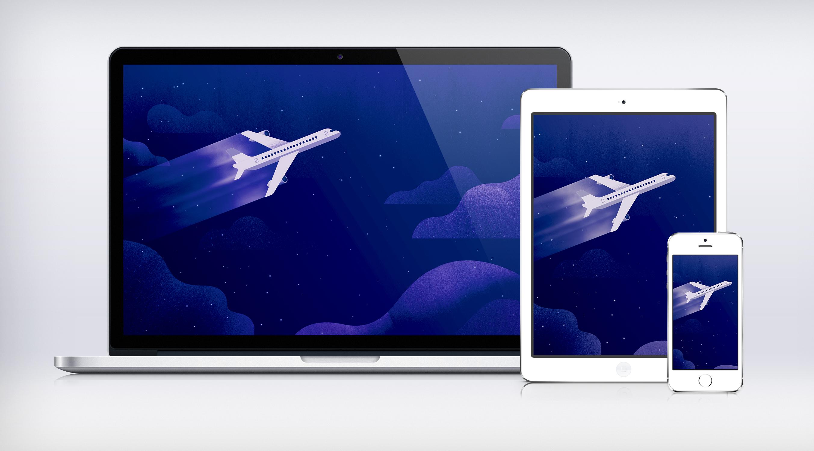 Google I/O Night Plane Wallpaper Material Design